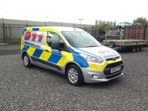 Reflective liveries can be installed on vehicles of any size