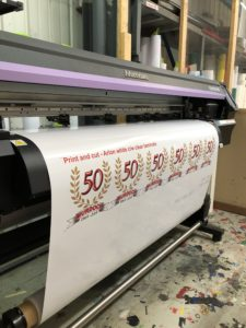 Our digital printer/cutter can produce graphics, labels, signage and more
