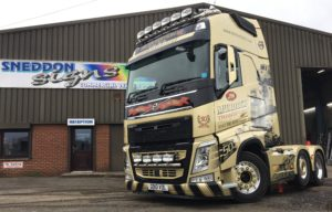 Special edition truck, rapped and lettered by Sneddon Signs in Paisley