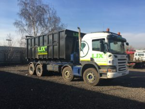 Both Skip and Lorry letterd to match customer's existing livery.