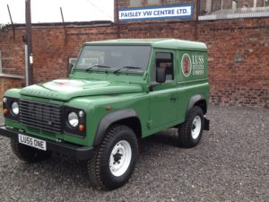 Not just trucks - this Land Rover was fully repainted to customers colours and lettered in their livery