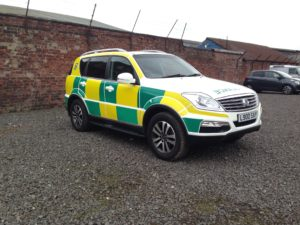 4x4 ambulance vehicle liveried to the same standard as frontline emergency vehicles