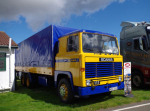 A classic Scania 111 fully repainted to origional demonstrator colours as part of a full refurbishment