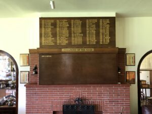 Golf club Honours boards can be updated annually and refurbished of replaced when full