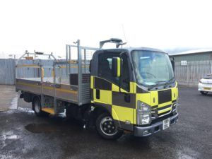 Reflective battenburg livery keeps traffic manaement operatives safe on the roads