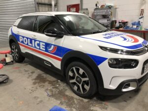 Citroen C4 in French police livery
