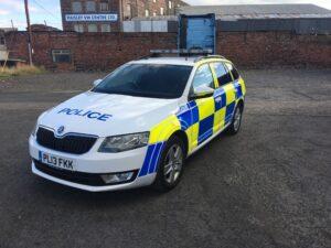 Skoda Octvia in police livery