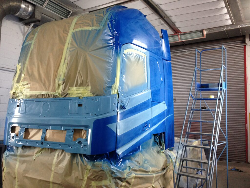 Between coats. This vehicle is about to get 2 coats of laquer