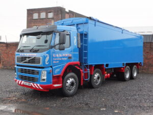 Bulk tanker painted in customer livery