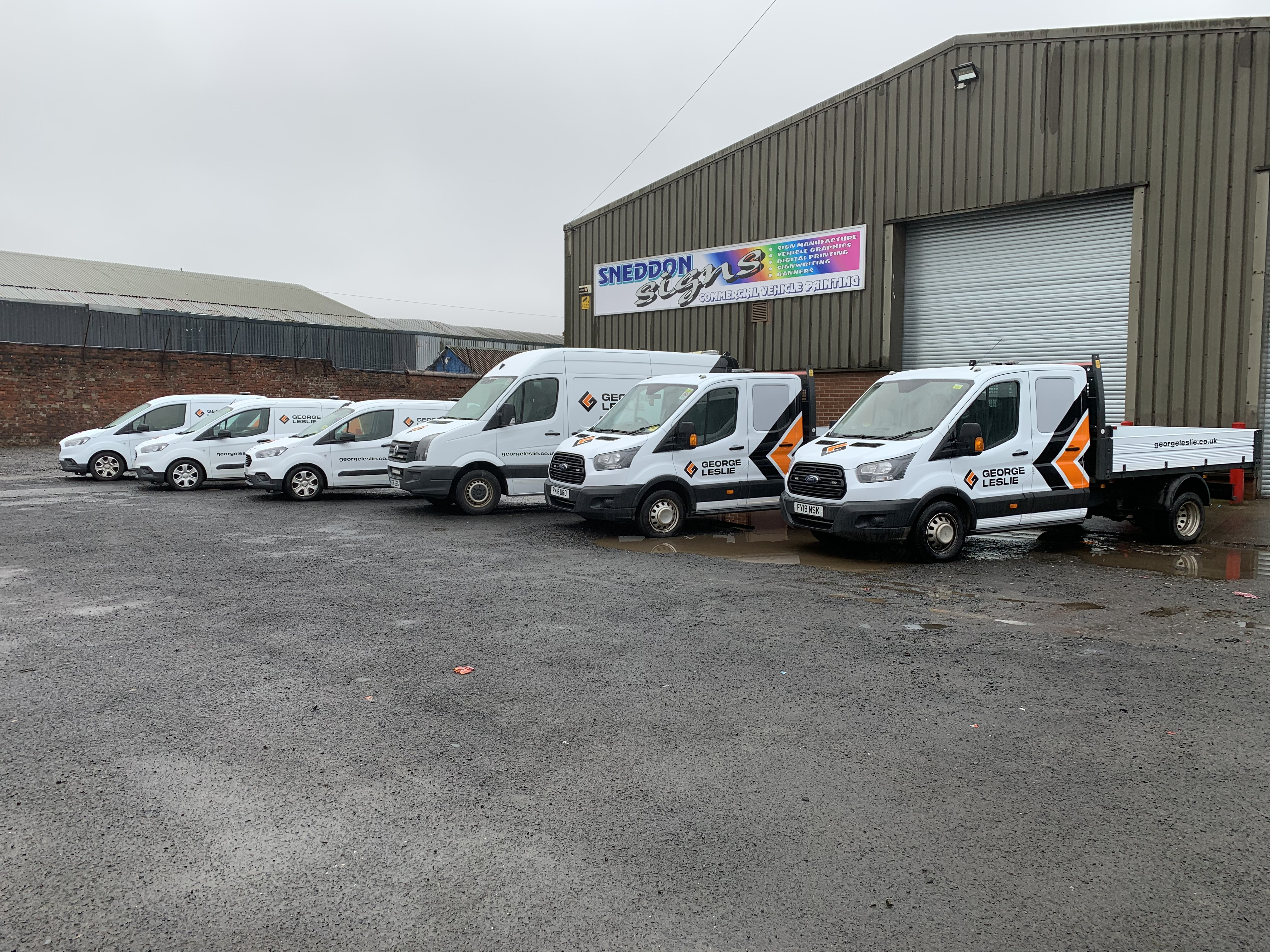 George Leslie's fleet includes a range of light and heavy commerical vehicles