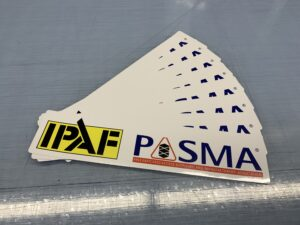 IPAF and PASMA van stickers, available for online purchase